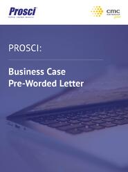 Business Case Pre-Worded Letter 1