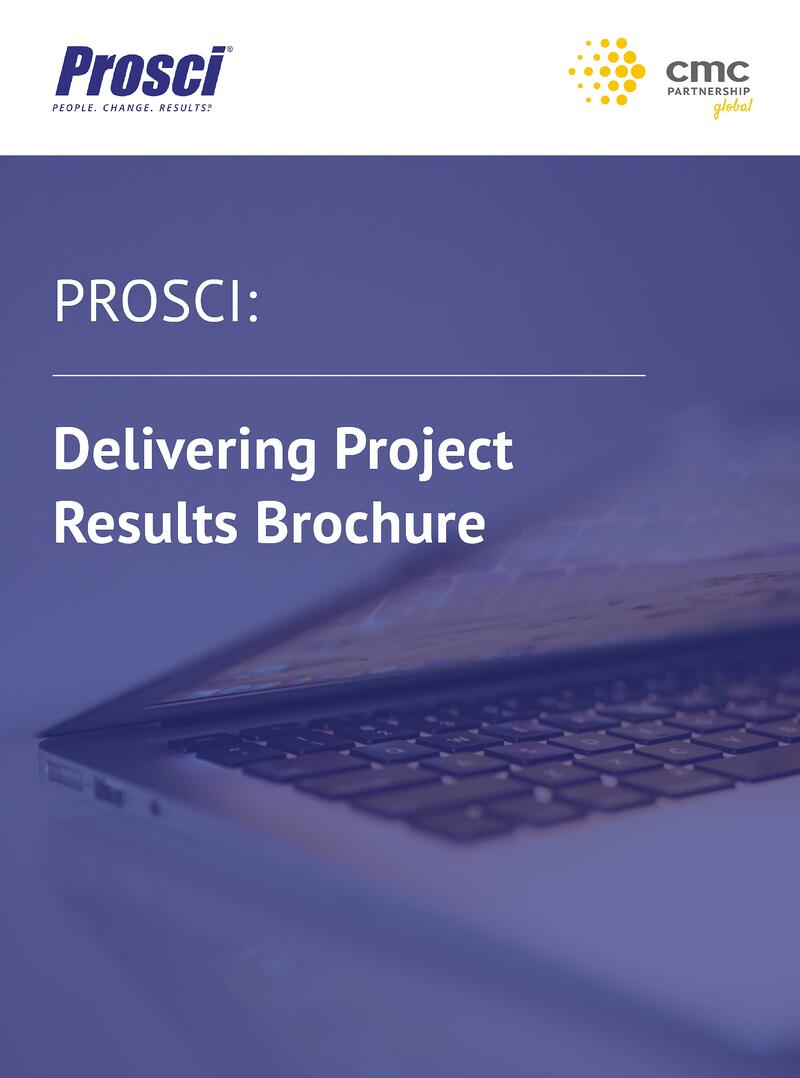 Prosci - Delivering Project Results Brochure Image