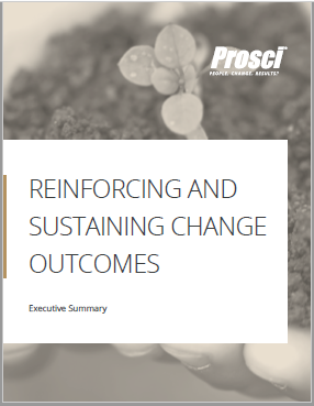 Reinforcing and Sustaining Change Outcomes